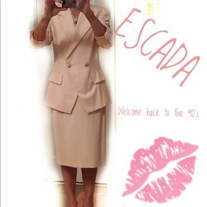 Escada Margareta Ley pale pink vtg. wool suit